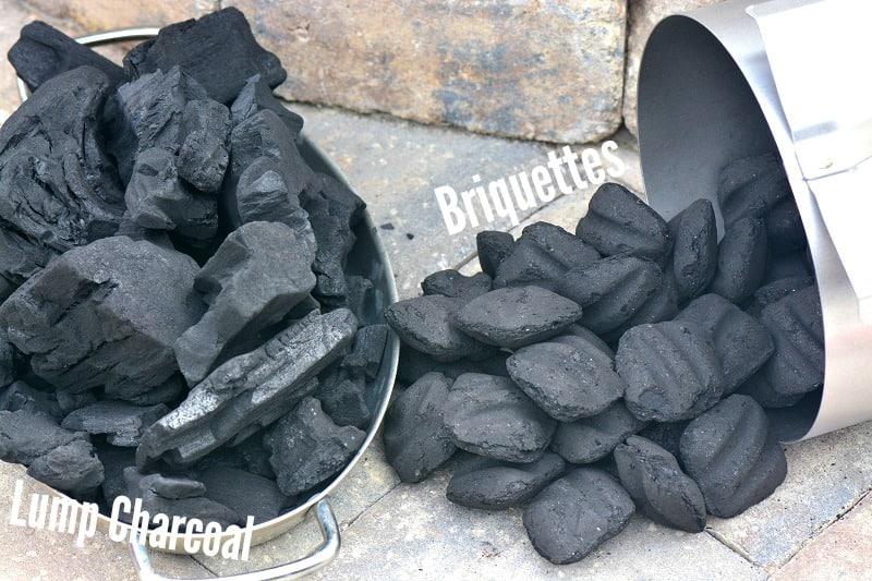 lump coal and charcoal briquettes
