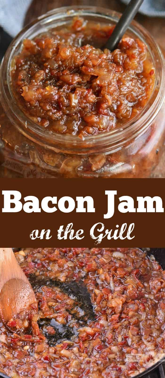 long collage of bacon jam