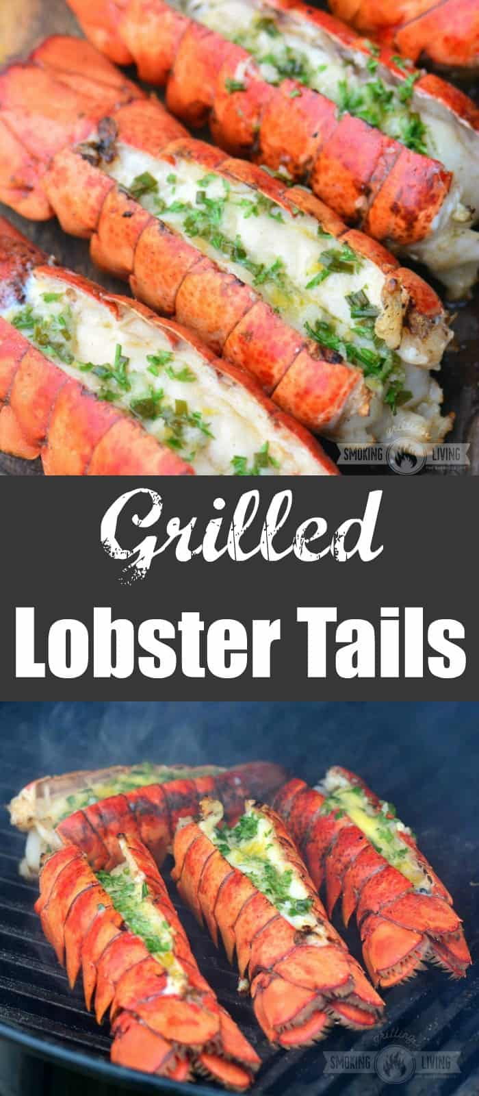 grilled lobster tails long collage
