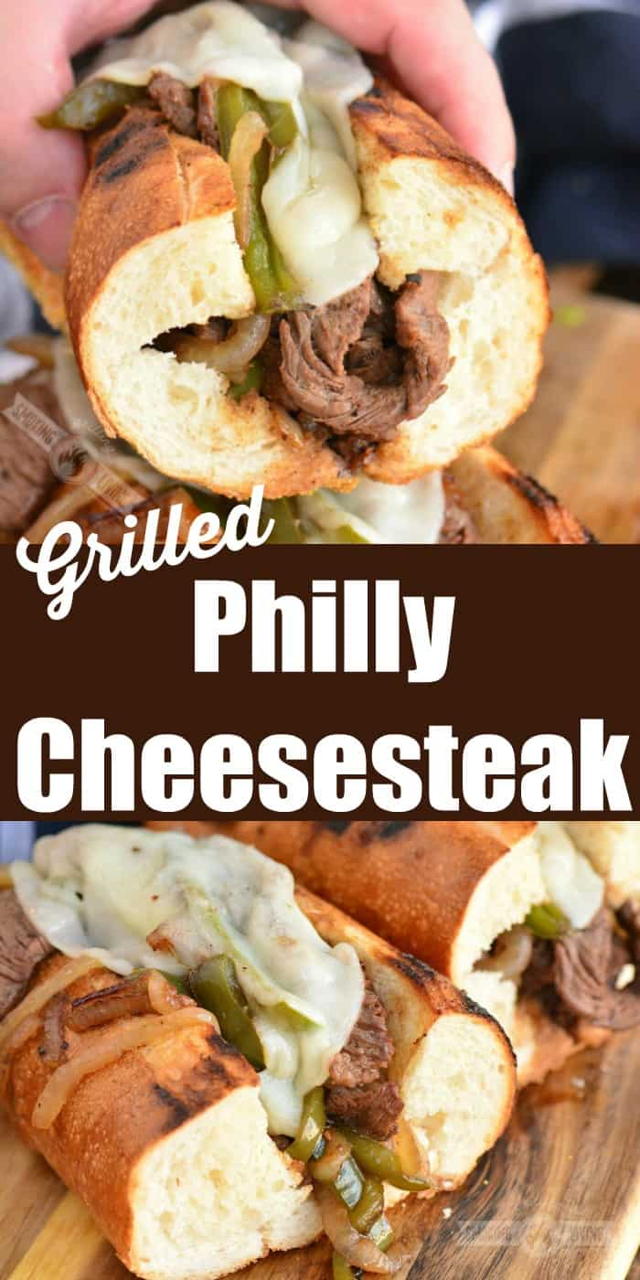 Philly cheesesteak collage