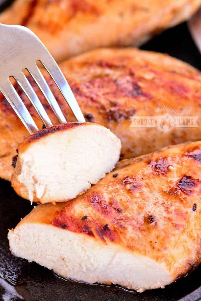cut grilled chicken