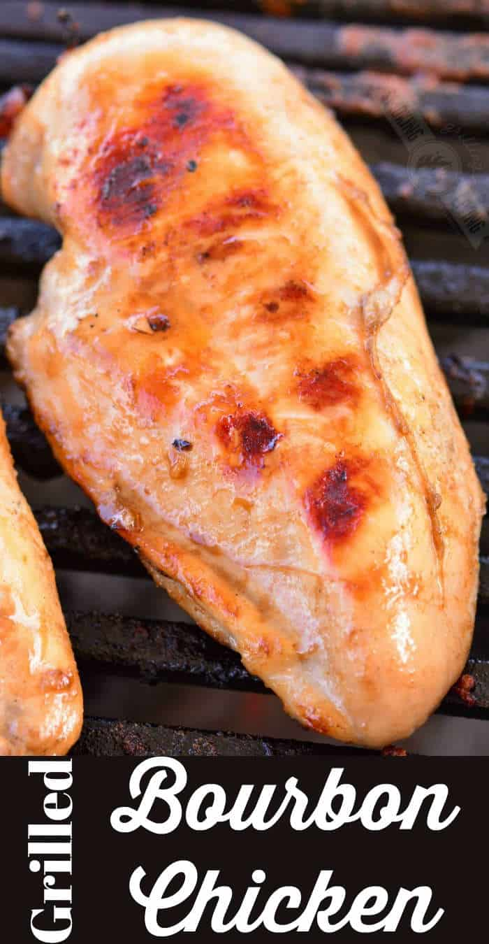bourbon chicken breast on the grill