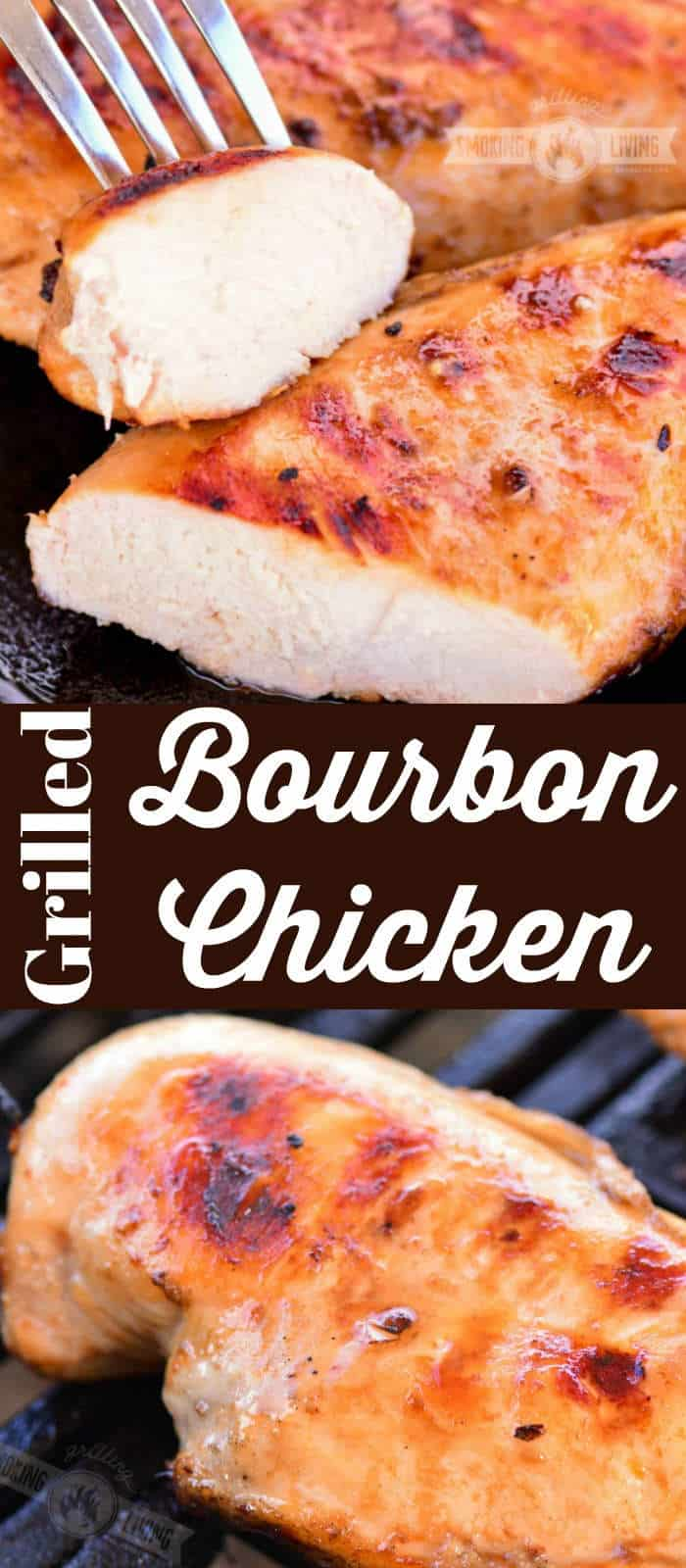 bourbon grilled chicken long collage