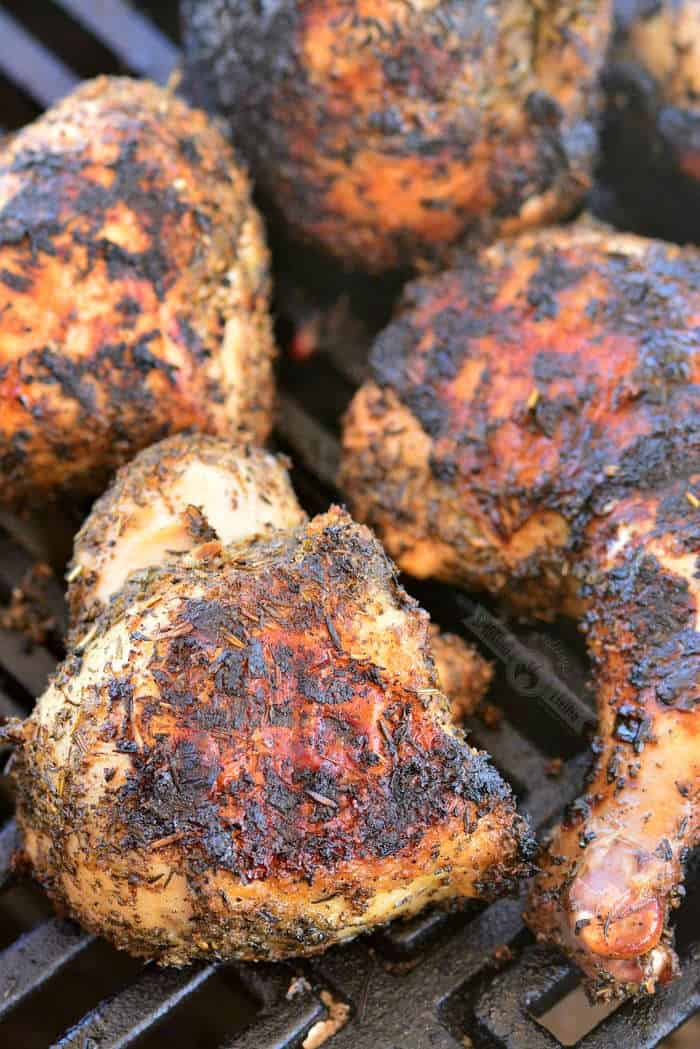 grilled bone-in chicken