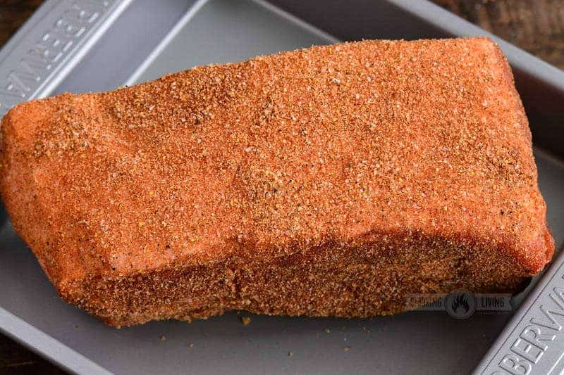 pork rubbed in spices